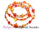 Bastelset: Kinderhalskette od. Armband in Gelb-Orange-Rot #1